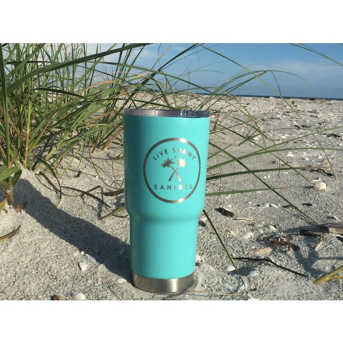 Live Sunny 20oz Tumbler in Turquoise