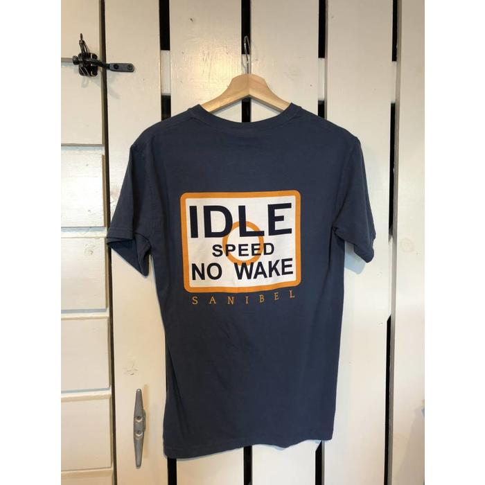 No Wake Tee - Dark Blue in short sleeve