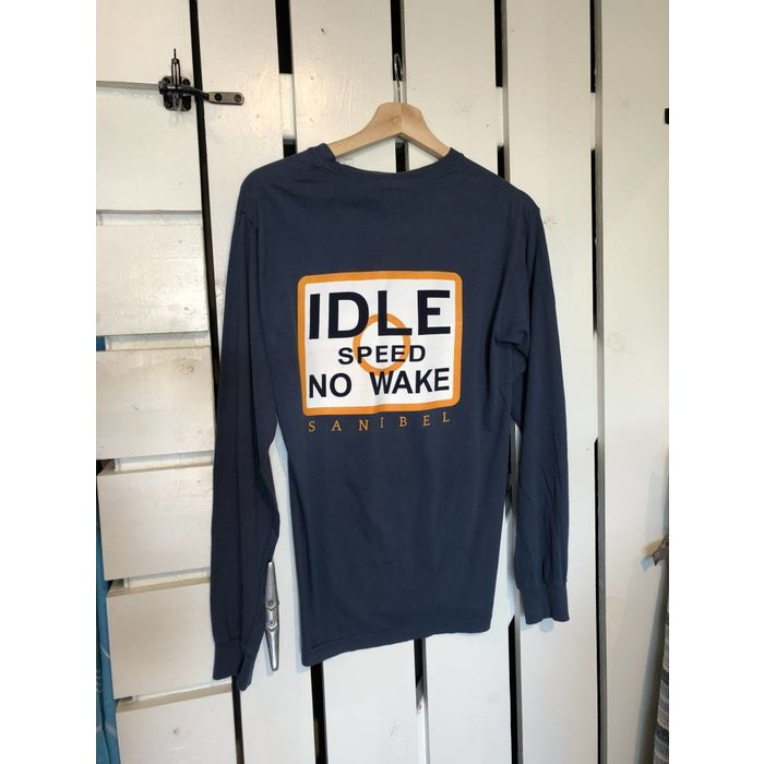No Wake Dark Blue Long Sleeve