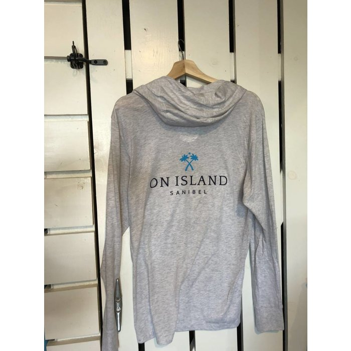 On Island Heathered White Hoodie