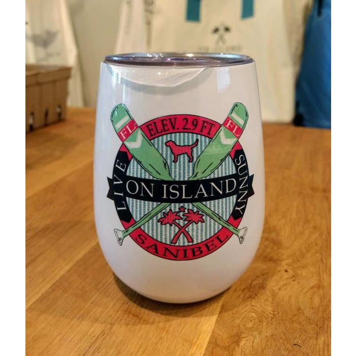 Crossed Oars insulated wine cup with lid