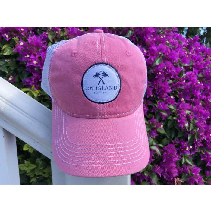 Pink Logo Patch Trucker Hat