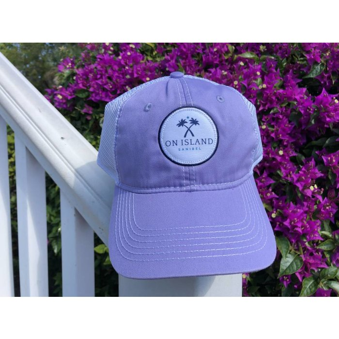 Lavender Logo Patch Trucker Hat