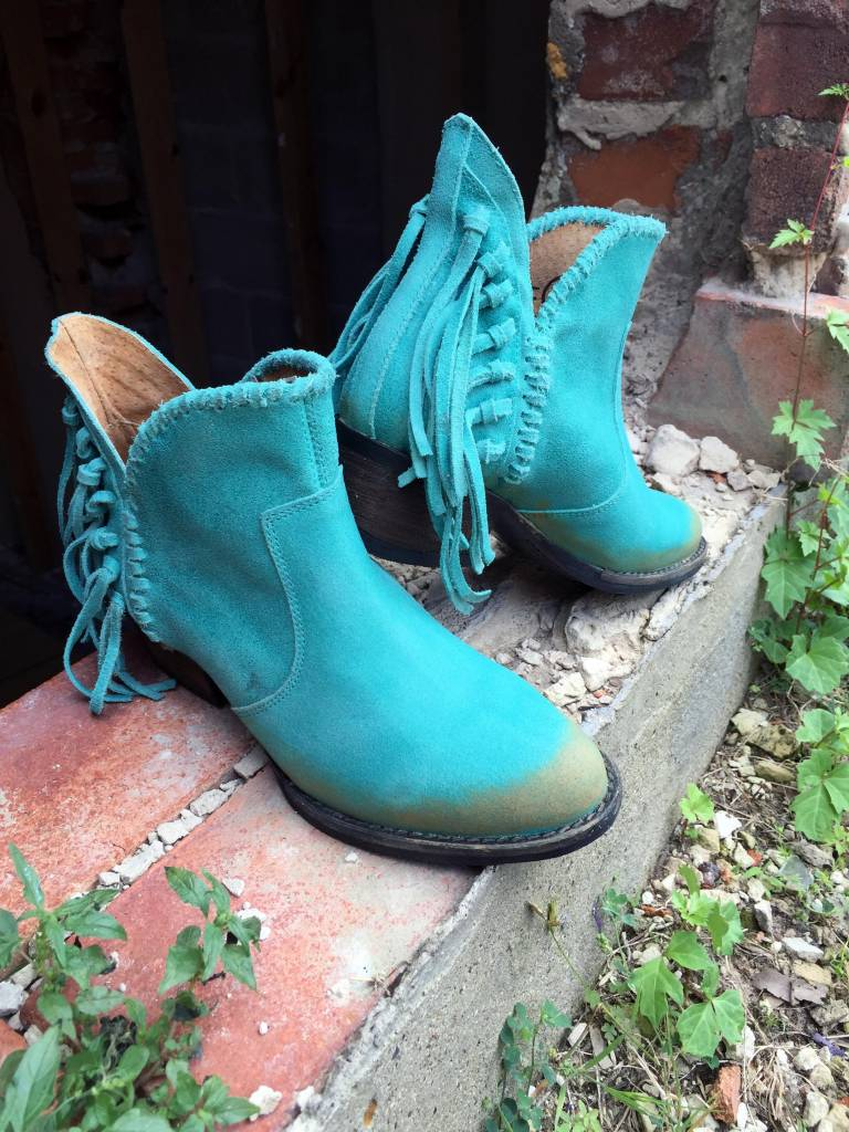 Turquoise Fringe Bootie - Diamond T Outfitters