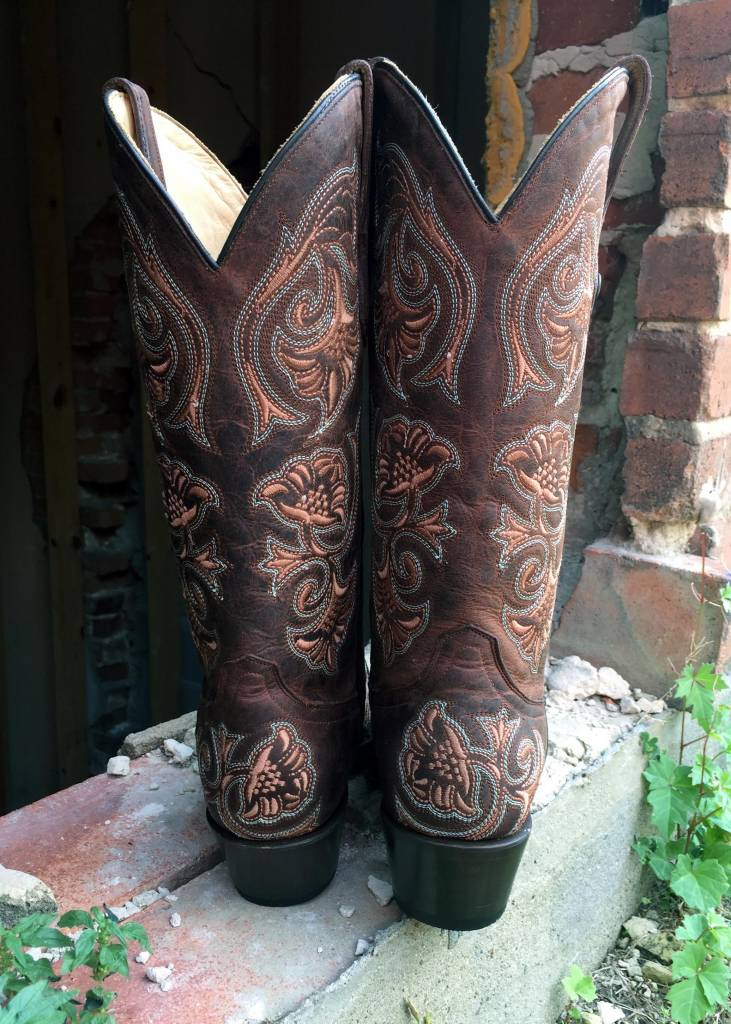 Corral Brown Floral Boot