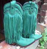 LIberty Black Turquoise Fringe Boot