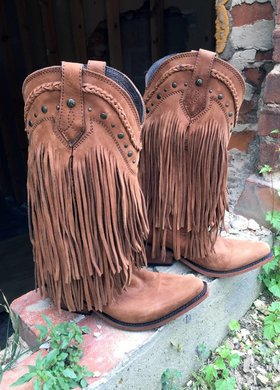Liberty Black Brown Fringe Boot