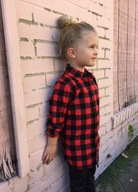 Girls Flannel Top