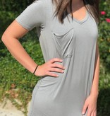 Grey Stone Pocket Tee Dress