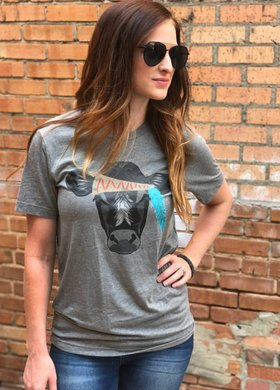 Rosebud's Designs The Hippie Cow Tee
