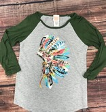 Tribal Baseball Tee