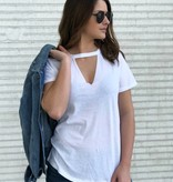Cut it Out Tee in White