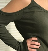 The Long Sleeve Cold Shoulder in Rosin