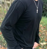Long Sleeve Modal Crew in Black
