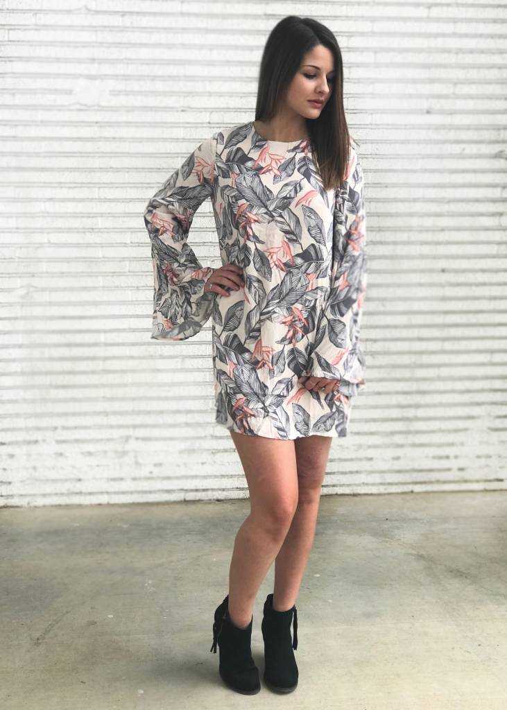 Diamond T Outfitters Peach Shift Dress