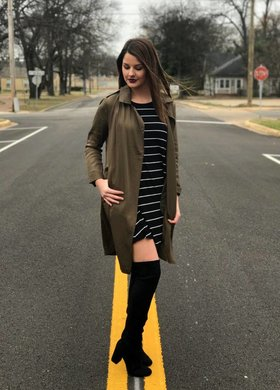 The Pencil Striped Dress