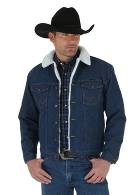 Diamond T Outfitters Wrangler® Sherpa Lined Denim Jacket