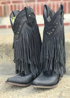 Liberty Black Fringe Black Boot