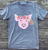 DTO Floral Pig Tee