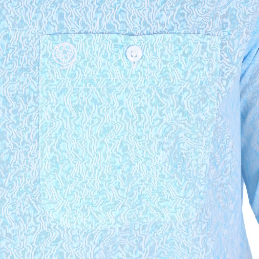 Geroge Strait by Wrangler Blue Wave Print