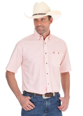 George Strait by Wrangler Orange Medallion Print