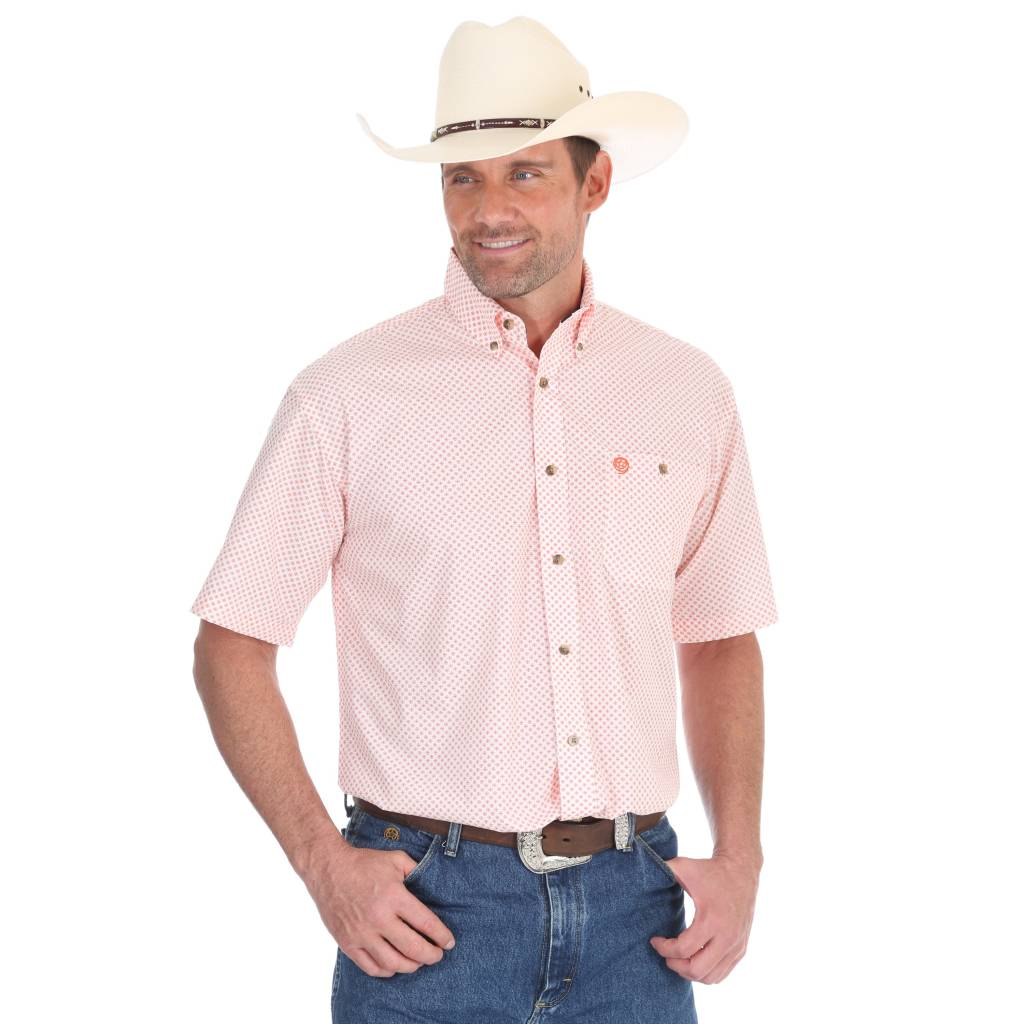 Diamond T Outfitters George Strait by Wrangler Orange Medallion Print