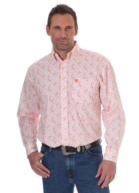 George Strait Orange Paisley Print