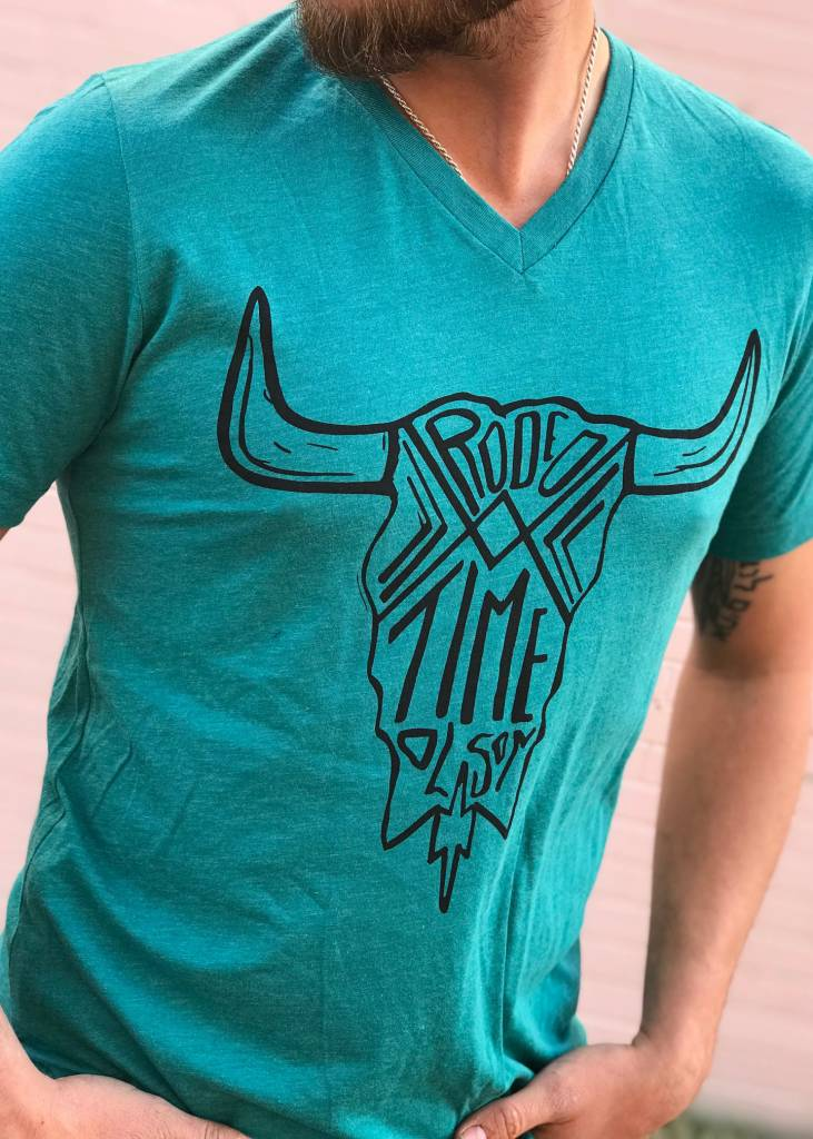 Diamond T Outfitters Dale Brisby Rodeo Time Skull Tee