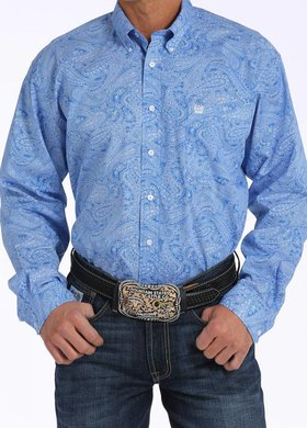 Cinch Long Sleeve Royal Paisley