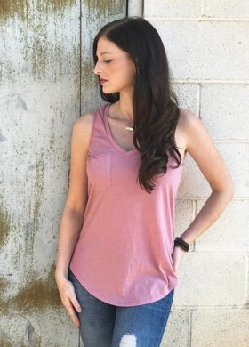 Z Supply The Pocket Racer Tank Lilac