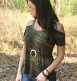 The Camo Cold Shoulder Tee