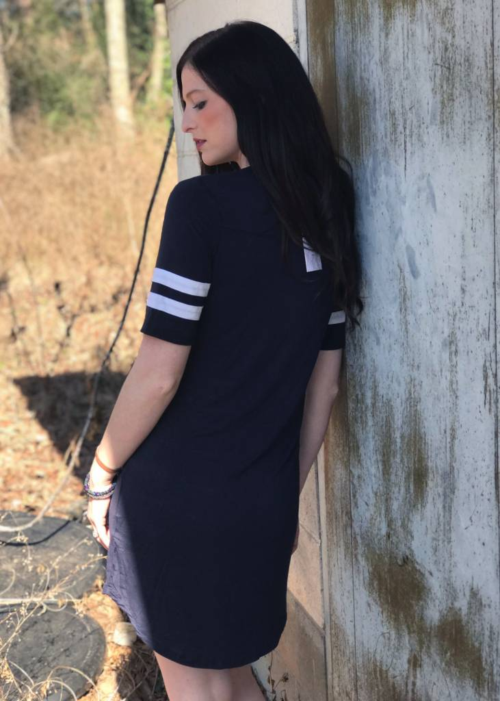 The League Dress in Navy