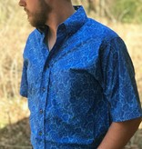 Diamond T Outfitters Tuf Cooper Short Sleeve Royal Paisley Print