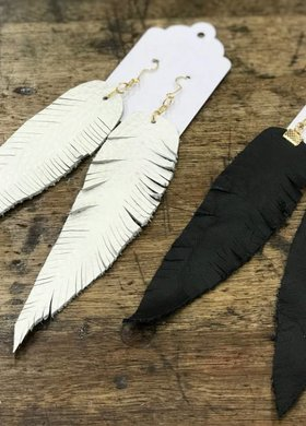Vintage Feather Earring