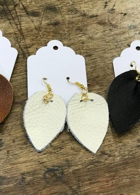 Leather Tear Drop Small