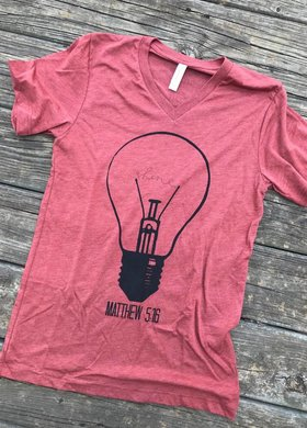 Threads of Light The Bulb Tee in Clay