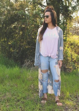 The Cloudy Tie Dye Duster