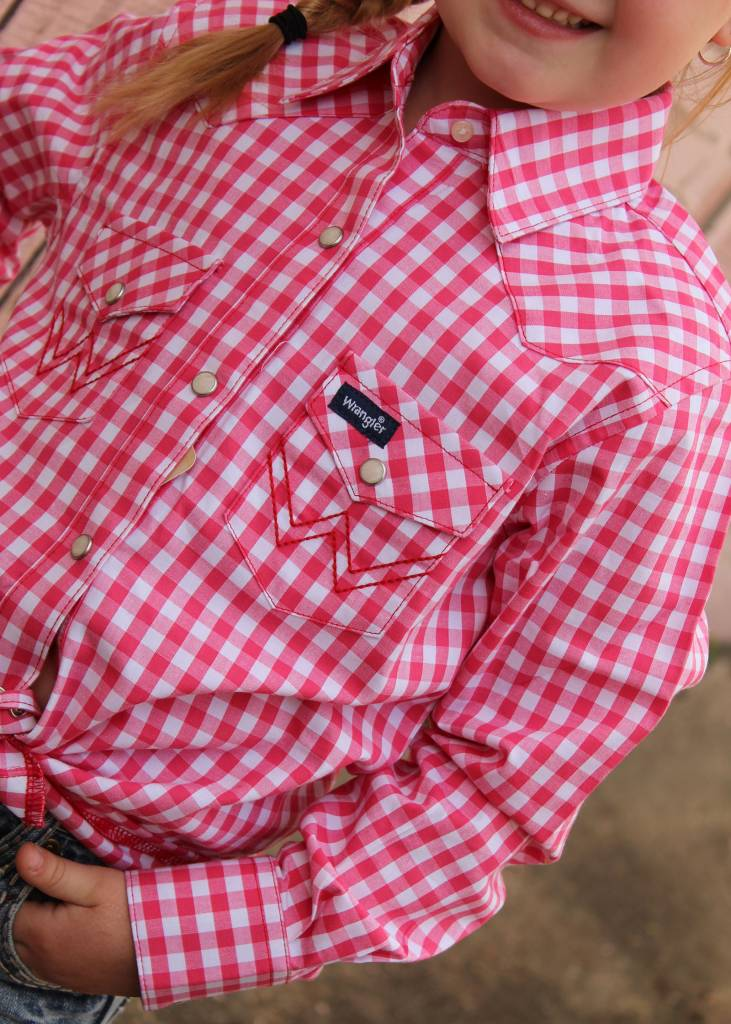 Diamond T Outfitters Gingham Pearl Snap