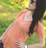 Diamond T Outfitters The Pocket Tee in Coral Rose