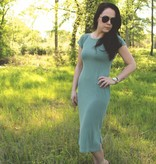 Diamond T Outfitters The Muse Midi Dress Pale Sage