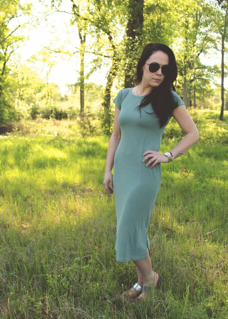 The Muse Midi Dress Pale Sage