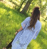 Boho Lace Kimono in Periwinkle