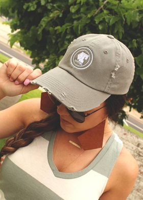 Diamond T Outfitters Ladies DTO Cap Distressed Olive