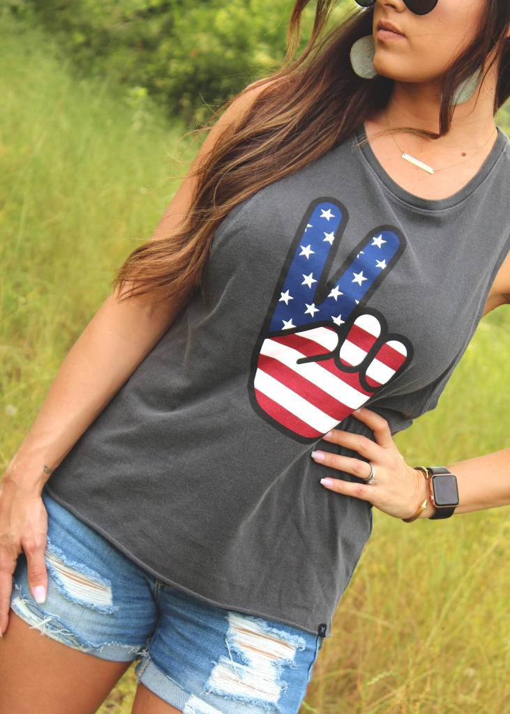 Diamond T Outfitters Merica Muscle Tank