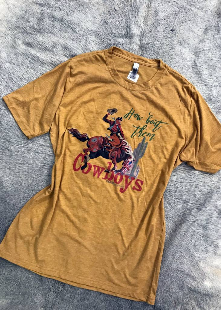 Diamond T Outfitters How Bout Them Cowboys in Mustard