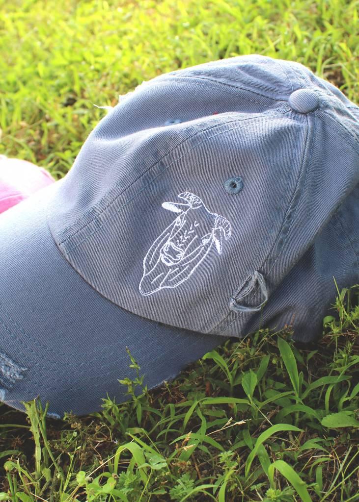 The Bull Distressed Cap Blue