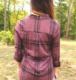 Diamond T Outfitters Dusty Plum Plaid