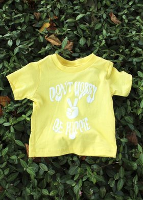 Diamond T Outfitters Don't Worry Be Hippie Baby Tee