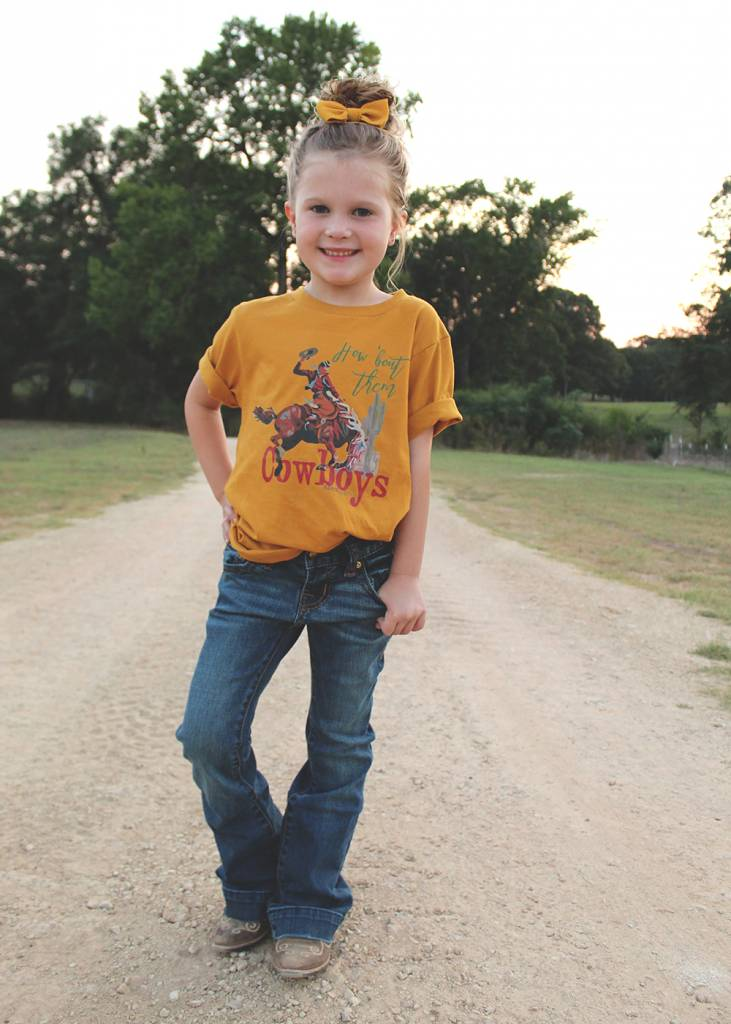 Diamond T Outfitters How Bout Them Cowboys in Mustard Youth