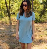 Z Supply The Suede Cut Out Dress in Sea Green